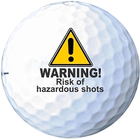 Hazardous Shots Printed Golf Balls